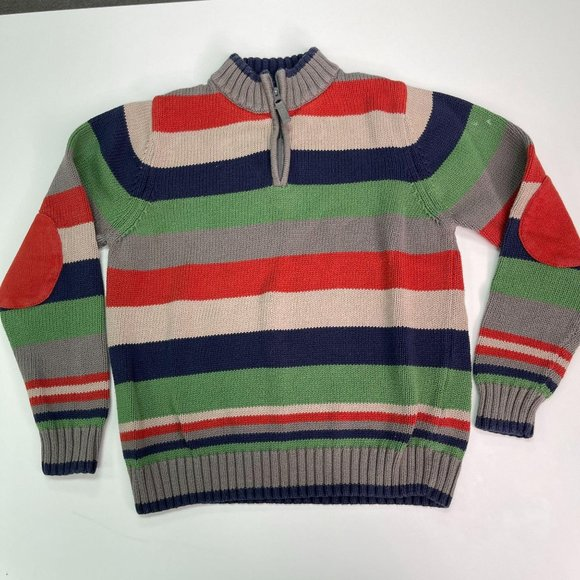 Hanna Andersson Boys 1/4 Zip Knit Pullover 150cm